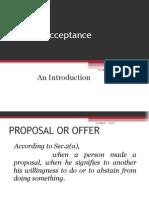 Offer n Acceptance