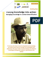 Putting Knowledge Into Action