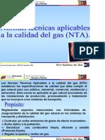 Normas  Técnicas  Aplicables  a  la  calidad  del  gas  (NTA)
