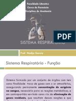 Aula 7 - Sistema respiratório