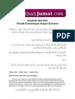 Khutbah Idul Fitri Meraih Kemenangan Dengan Ketaatan.