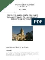 Proyecto de Artesanos Ciudad de Concepcion