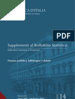 Debito Pubblico Italiano - Rapporto Banca d'Italia 14 Marzo 2001