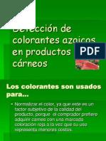 Detección de colorantes azoicos en productos cárneos!