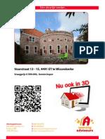 Brochure Voorstraat 13-15 te Wissenkerke