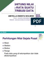 Menghitung Nilai Rata Rata Suatu Distribusi Data