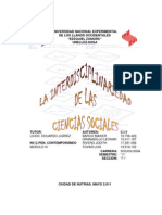 Corrientes Sociales Mod III Interdisciplinariedad