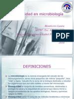 Bioseguridad en microbiología