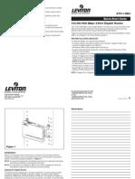 Leviton 101001000 Instruction Manual
