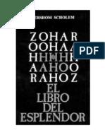 Gershom Scholem - El Zohar El Libro Del Esplandor