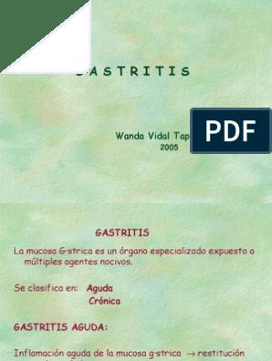 gastritis cronica y aguda pdf