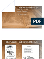 Greek Text Behind the KJV Presentation)