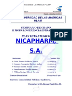 PLANEACION ESTRATEGICA NICAPHARM