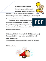 Powder Puff Cheerleaders Letter
