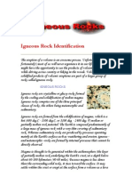 Igneous Rock Identification Exercise