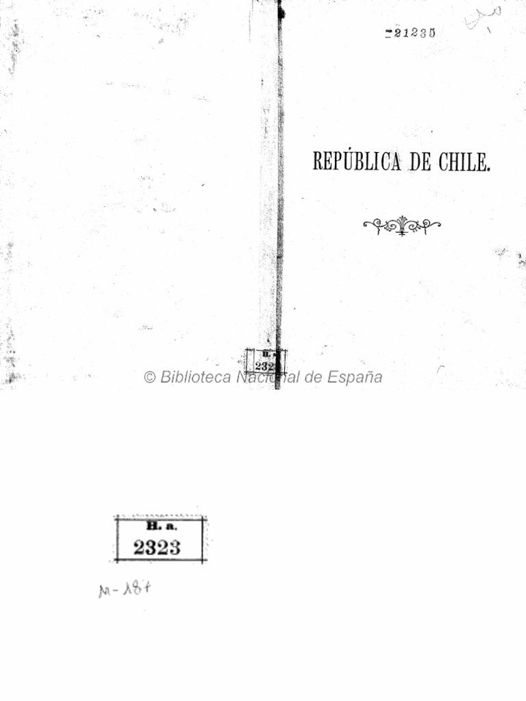 Breve Descripci N De La Rep Blica De Chile Escrita Seg N Datos  # Muebles Loa Sur Ancud