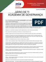 GOVERNANÇA TI - glossario