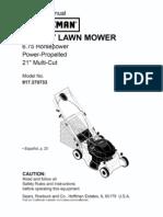 Craftsman Lawn Mower Model 917370733