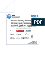 FORES - IDEA Premio a la Excelencia Judicial 2011