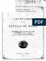 Centenario de la Batalla de Maipo. Discursos pronunciados en Chile con motivo de la visita de la delegación argentina. (1918)