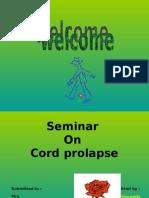 Cord Prolapse- Felix