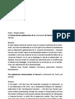 Gadamer Critica a Husserl Subjetividad