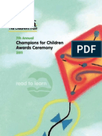 2011 Champions for Children Awards Ceremony Program Book