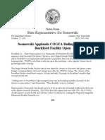Sosnowski Applauds COGFA Ruling To Keep Rockford Facility Open
