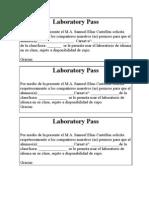 Laboratory Pass