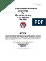 ISSA+Microsurfacing+A143 2005