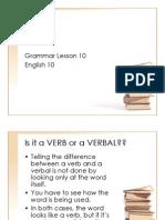 Grammar Lesson 10 Verbals