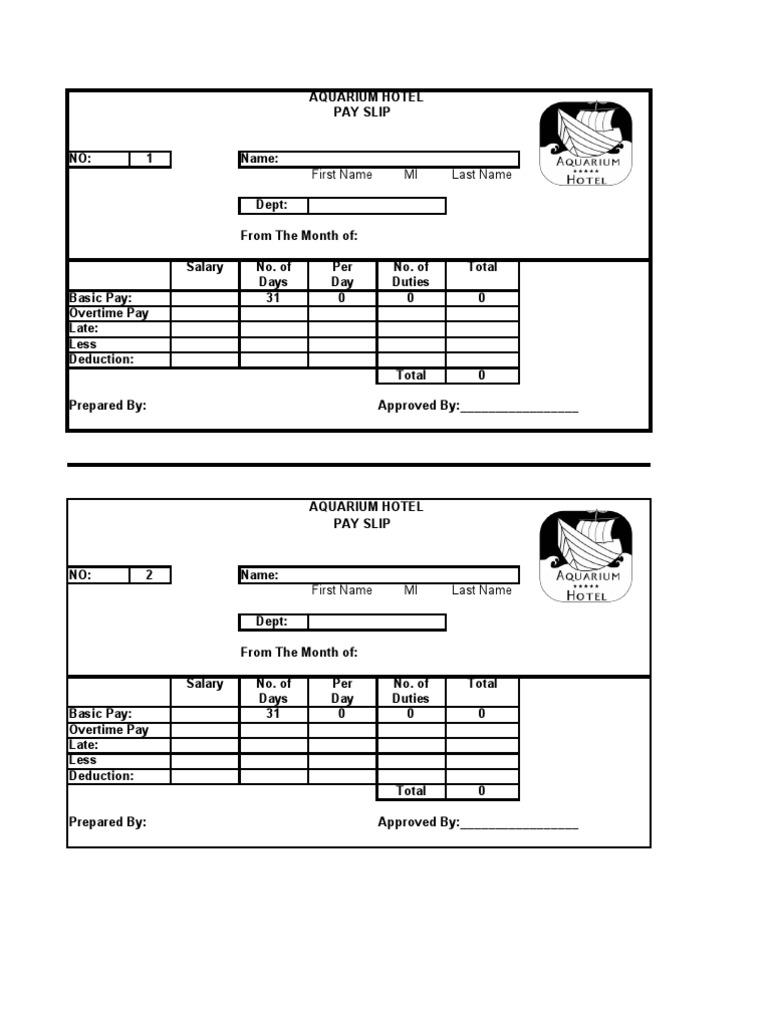 Doc668679 Employees Salary Slip HR Payroll 90 Related Docs – Employee Salary Slip Sample
