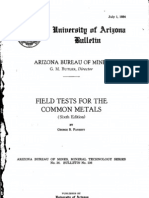 Field Tests for the Common Metals