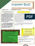 4th Grade Newsletter 102711