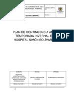 Plan de Contingencia ante la Temporada Invernal en el Hospital Simon Bolivar E.S.E.