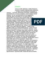 Arendt - Suo Scritto Dedicato a Walter Benjamin