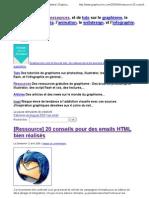 20 conseils pour des emails HTML bien réalisés