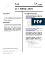 Guide to Making a Claim En