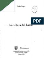 Pedro Trigo La Cultura Del Barrio