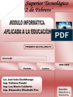 MÓDULO INFORMÁTICA APLICADA A LA EDUCACIÓN