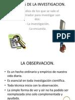 Tecnicas de La Investigacion