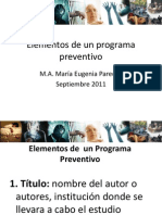 Elementos de Un Programa Preventivo