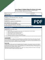 RMF Progress Report_tangalle Preschool Sri Lanka- UPDATED 2007