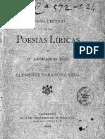 Juício crítico de las poesías líricas de D. Leonardo Eliz. (1903)