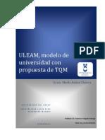 ULEAM, modelo de universidad con propuesta de TQM