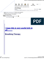 Breathing Theraphy
