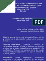 Curso Planificación Pastoral