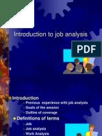 Introduction to Job Analysis