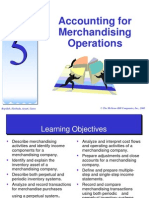Chapter 5 - Accounting for Merchandising Operations