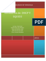Instalacion de Dhcp y Squid3